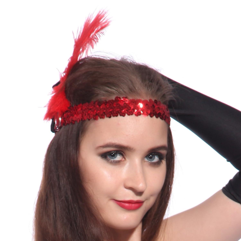 Flapper Headpiece Amazon Amazon.com Flapper Girl 1920s