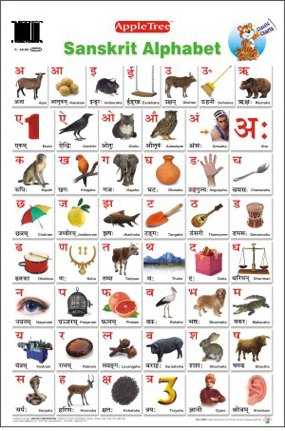 Buy Educational Charts Sanskrit Alphabet Book Online at Low – Sanskrit Alphabet Chart