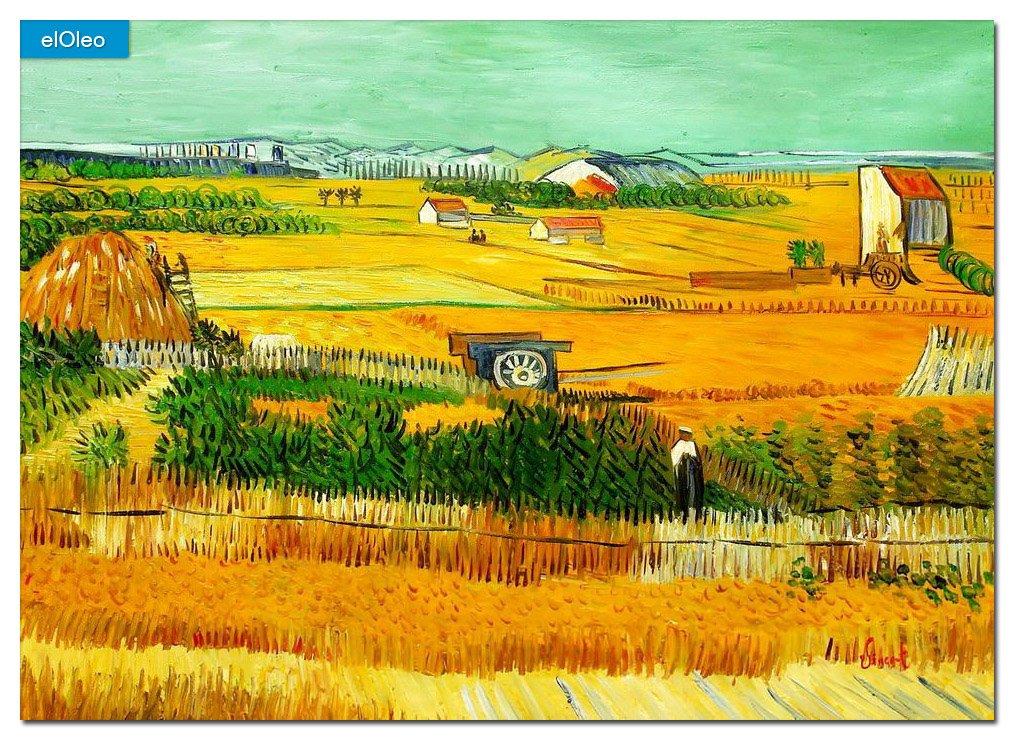 elOleo Vincent van Gogh – Erntelandschaft 80×110 Gemälde auf Leinwand handgemalt 83523A günstig
