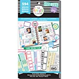 me & my BIG ideas Sticker Value Pack for Classic Planner - The Happy Planner Scrapbooking Supplies - Colorful Boxes Theme - Multi-Color - Great for Projects & Albums - 30 Sheets, 594 Stickers Total (Color: Multicolor)