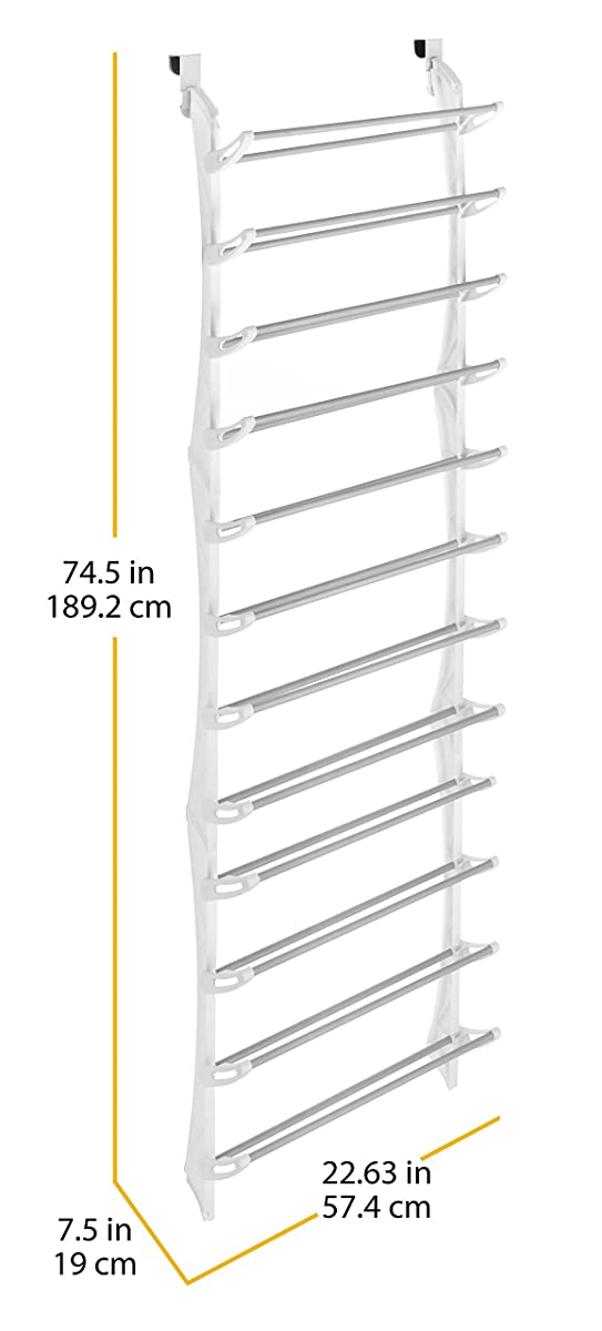Whitmor 36-Pair OTD Shoe Rack White