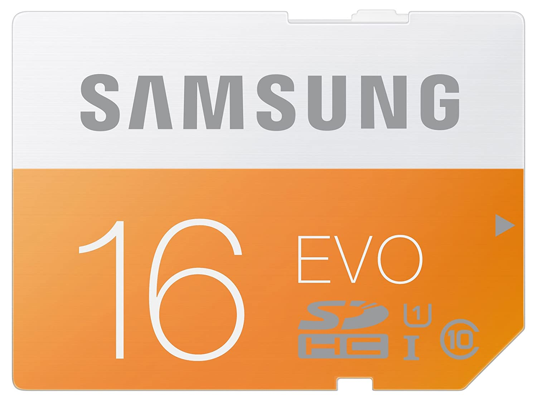 Samsung Scheda di Memoria SD Evo da 16 GB, Nero/Antracite