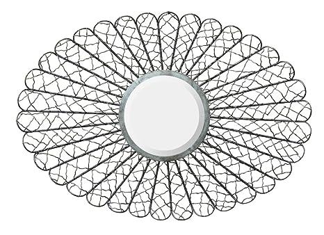Sunburst Metal Frame Mirror