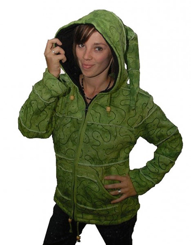 Warme Goa Strickjacke Jacke Zipfelkapuze Hippie jetzt kaufen