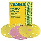 Eagle 524-1200 - 6 inch SUPER-TACK Yellow-Film Discs - 15 Holes - Grit P1200-50 discs/box