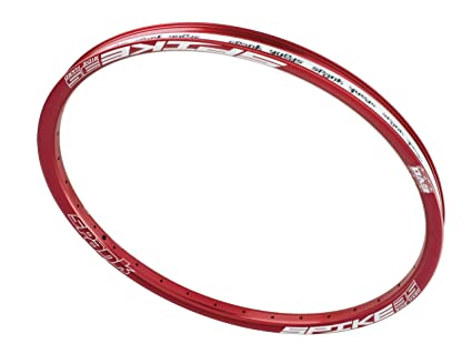 Bike With Red Rims 35al 32h Rim 26 Inch Red
