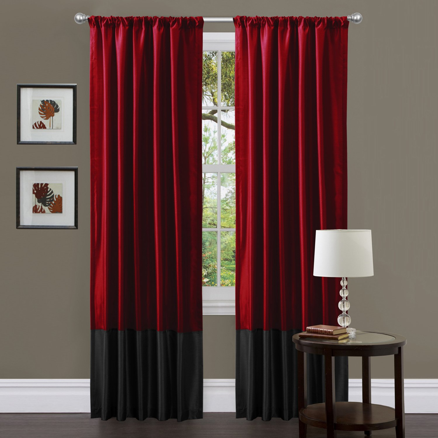 Black red bedroom decor