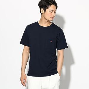 (ザ ショップ ティーケー) THE SHOP TK 刺しゅう 半袖ポケットTシャツ 61624612