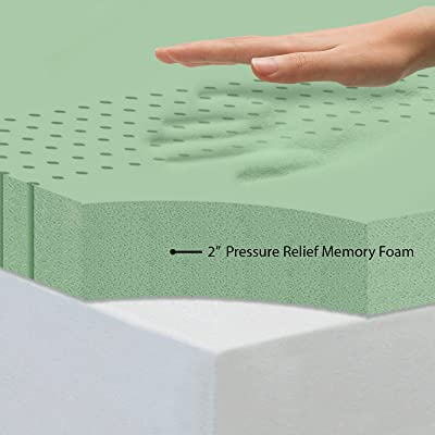 Sleep Joy ViscO2 Ventilated Memory Foam Mattress Topper, Queen