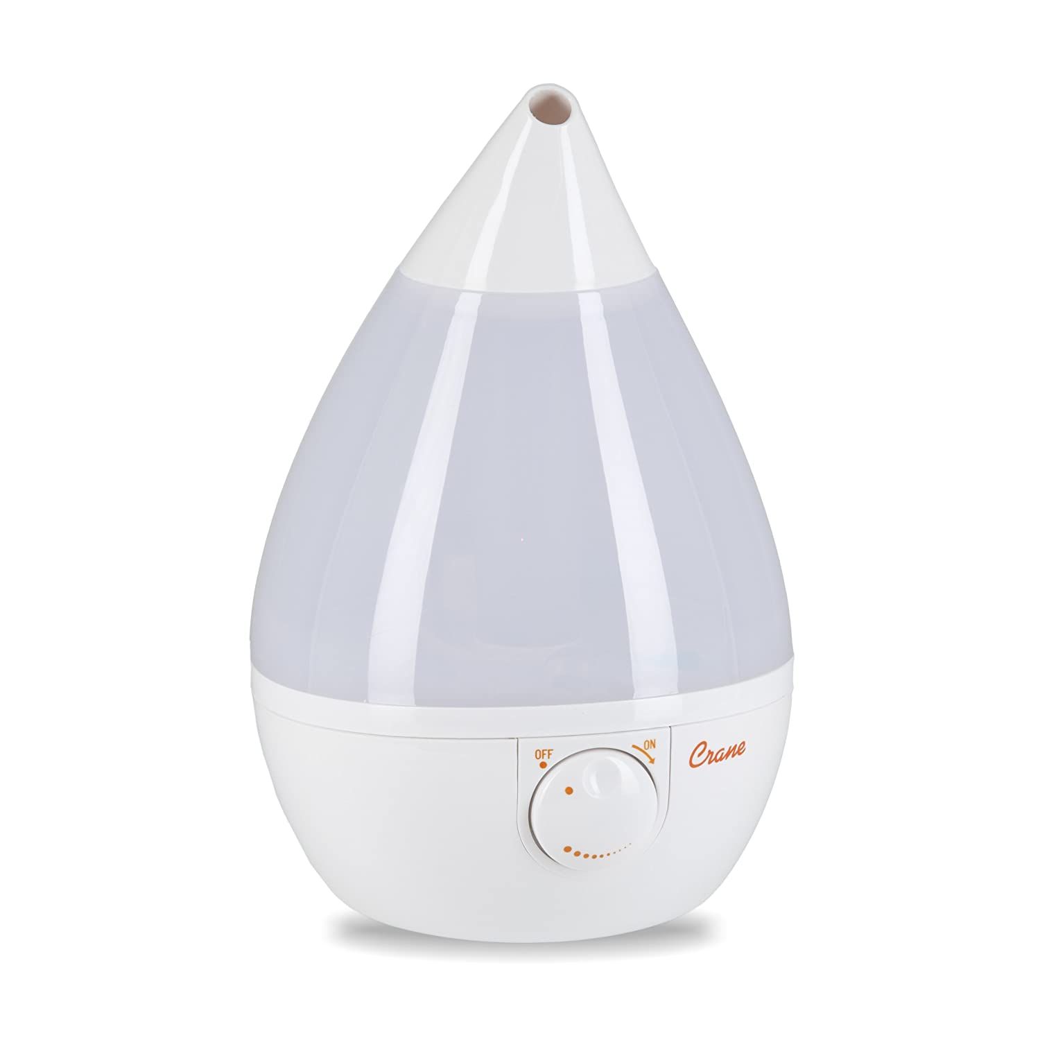Crane Drop Shape Cool Mist Humidifier White