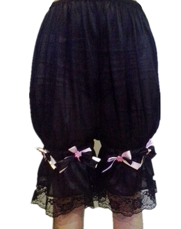 Frauen Handgefertigt Halb Slips UL2BBK3 Black Half Slips Nylon Women Pettipants Lace online bestellen