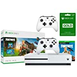 Xbox One S Fortnite Eon Cosmetic Epic Bundle: Fortnite Battle Royale, Eon Cosmetic, 2,000 V-Bucks, Xbox One S 1TB Console w/ 4K Blu-Ray Player, 2 Wireless Controller, 3-month Xbox Live Gold Membership (Color: White)