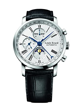 Louis Erard Excellence Collection Swiss Automatic White Dial Men's Watch 80231AA01.BDC51