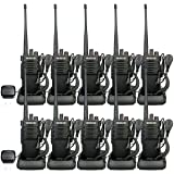 Retevis RT29 Two-Way Radios Long Range 3200 mAh UHF Radio VOX Encryption Emergency Security Business High Power Walkie Talkie with Earpieces (10 Pack)