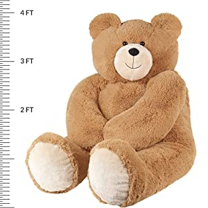 Vermont Teddy Bear - Giant Teddy Bear, 4 Ft Plush Bear Stuffed Animal, Brown (Tamaño: 4 foot Bear)