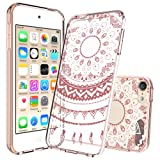 Ipod Touch 6/6th Generation Case,Ipod Touch 5/5th Generation Case Clear, with HD Screen Protector, AnoKe Mandala Flower Acrylic TPU Women Girl Phone Cover Case For Ipod Touch 5 6 TM CH Rose Gold (Color: TPU CH Rose Gold)