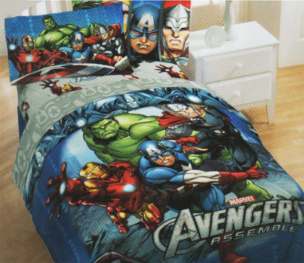 Marvel Avengers Superhero 5pc Full Bedding Comforter & Sheet Set