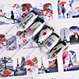 1 Pc Cat Tower Flower Nails Art Sticker Transfer Decals Professional Girls Stamping Plates Beauty Popular Paint Templates Nail Wraps Kits