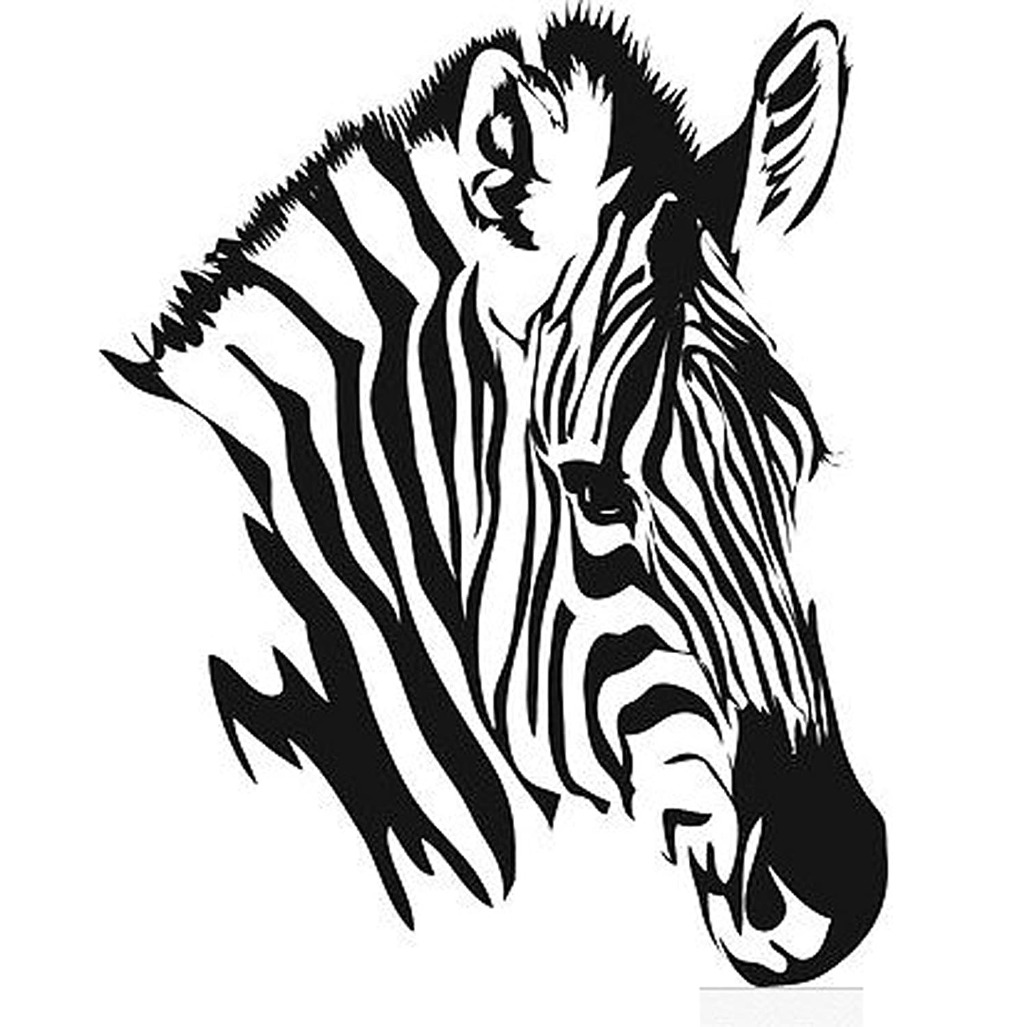 Line Drawing Zebra : Animal zebra head drawing sketch coloring page