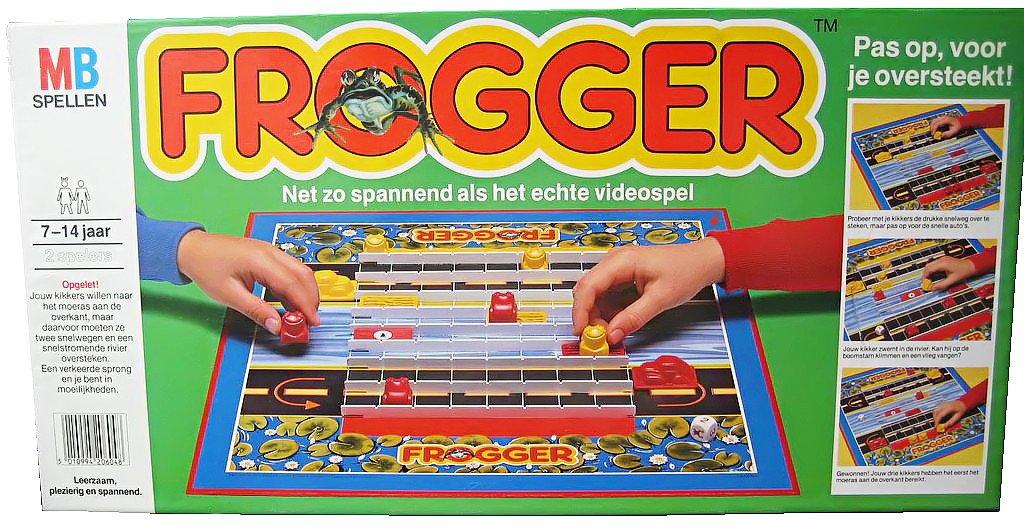 Frogger Brettspiel günstig als Geschenk kaufen