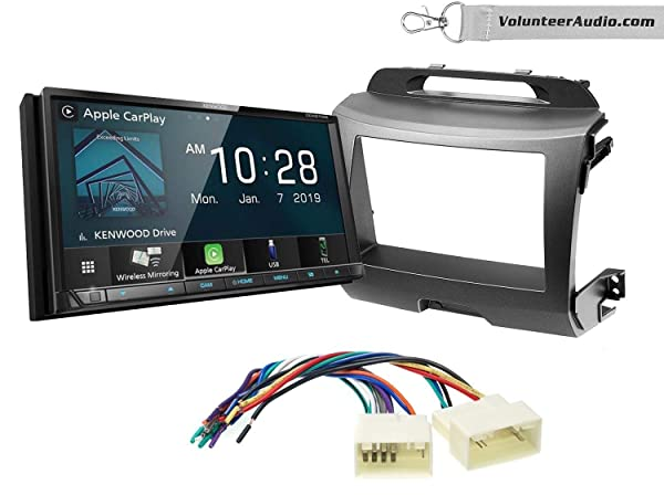 Kenwood DDX8706S Double Din Radio Install Kit With Apple CarPlay, Android Auto, Sirius XM Ready Fits 2011-2014 Kia Sportage (Dark Grey)