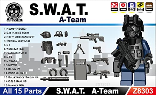 Swat Team Gear Swat Team Minifigure Gear Pack