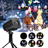 Ominilight 2 in 1 Christmas Laser and LED Projector Light, with Green&Red Laser and 4 LED Switchable Patterns, for Holiday, Party, Wedding, Disco (Color: 2 in 1)