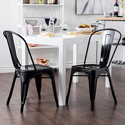Vintage dining chairs Black