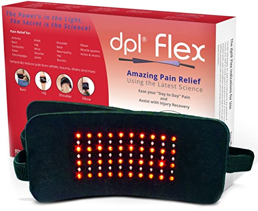 DPL FlexPad Pain Relief System for Back and Knee Pain (880nm Infrared and 660nm Red LED)