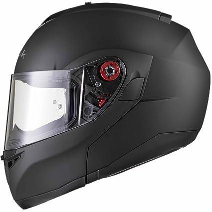 Black Optimus Casque Moto Modulaire