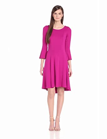 Yoana Baraschi Women's High Low Swing Dress, Berry, Medium
