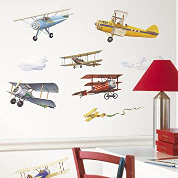 Buy RoomMates RMKSCS Vintage Planes Wall Decals Online At Low - Wall decals online