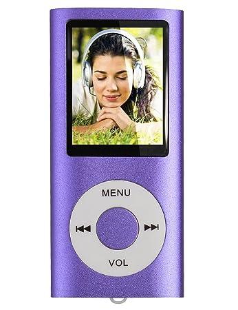 tabmart Lecteur multimédia MP3/MP4avec support carte mémoire microSD 16Go lecteur audio radio FM E-book Haut-parleur intégré longue durée de vie de la batterie affichage 4,6cm couleur Lecteur de musique