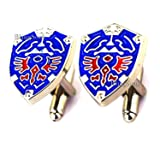 Beautiful Jewellery Collection (Legend of Zelda Cufflinks Blue) (Color: Legend of Zelda Cufflinks Blue, Tamaño: One-Size)
