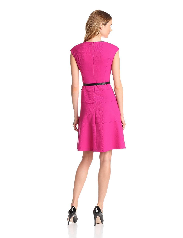 Anne Klein Women's Cap Sleeve Solid Dress
