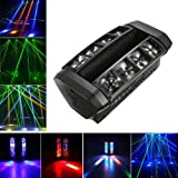 Docooler 50W Moving Head Light Auto Rotating DMX512 5/13 Channels Sound Control RGB Color Changing GOBO Pattern LED for Disco KTV Club Party (L2249US) (Color: 50w)