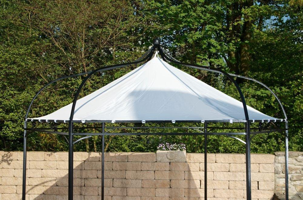 CLP wasserdichtes Ersatzdach für 6 eckigen Pavillon (Höhe 280 cm, Breite 280 cm) bspw. für CLP Pavillon MANLEY + DUDLEY weiß