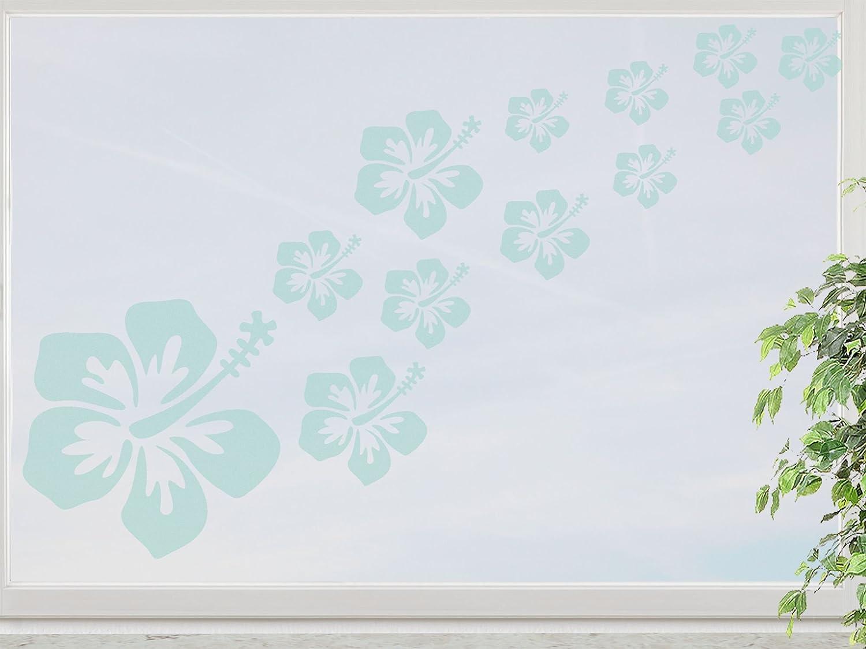 wandfabrik – Fenstersticker Hibiskus 16 Blüten im Set – mint – 748 – (Xt) bestellen