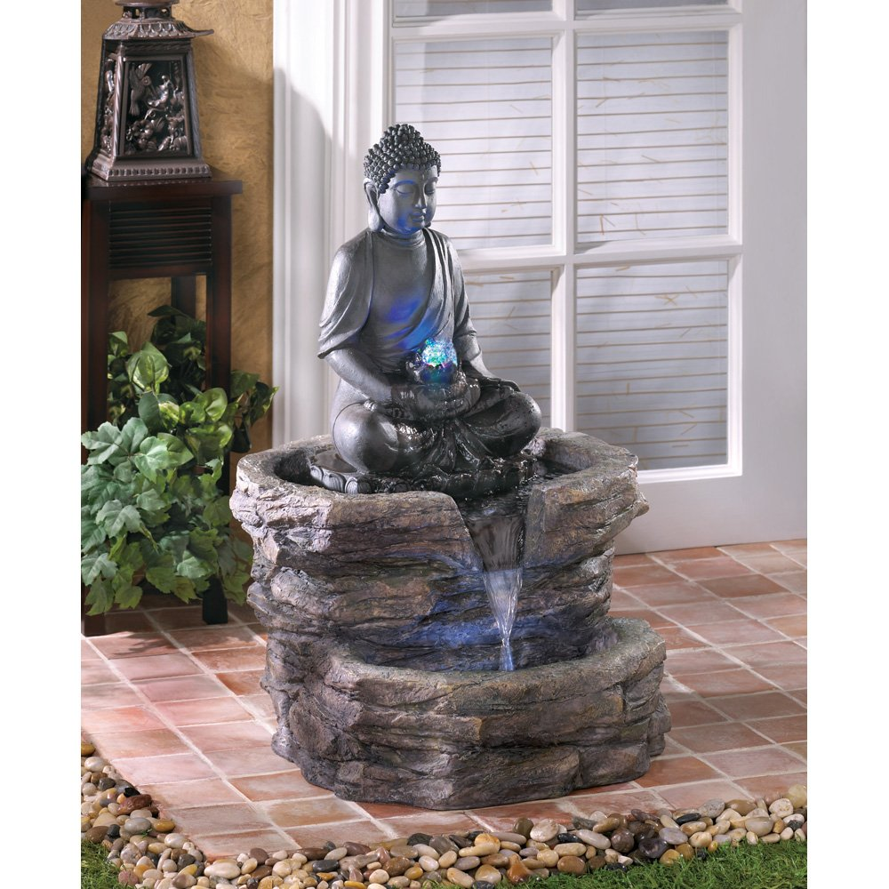 peaceful buddha statues for garden zen and meditation. Black Bedroom Furniture Sets. Home Design Ideas