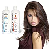 Sulfate Free Shampoo & Conditioner 2 LITER Bottles Set infused with Moroccan Argan Oil, By Keratin Research