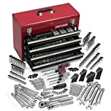 CRAFTSMAN 365 pc MECHANICS TOOL SET w/ CRAFTSMAN TOOL BOX 4 DRAWERS (Color: As the picture shown, Tamaño: 365-Piece)