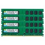 DUOMEIQI 8GB Kit (4 X 2GB) DDR2 667MHz UDIMM 2RX8 8 GB PC2-5300 PC2-5400 240pin CL5 1.8v Desktop Memory RAM Module Chips (Color: 4X2GB Large Board, Tamaño: UDIMM Large Board)