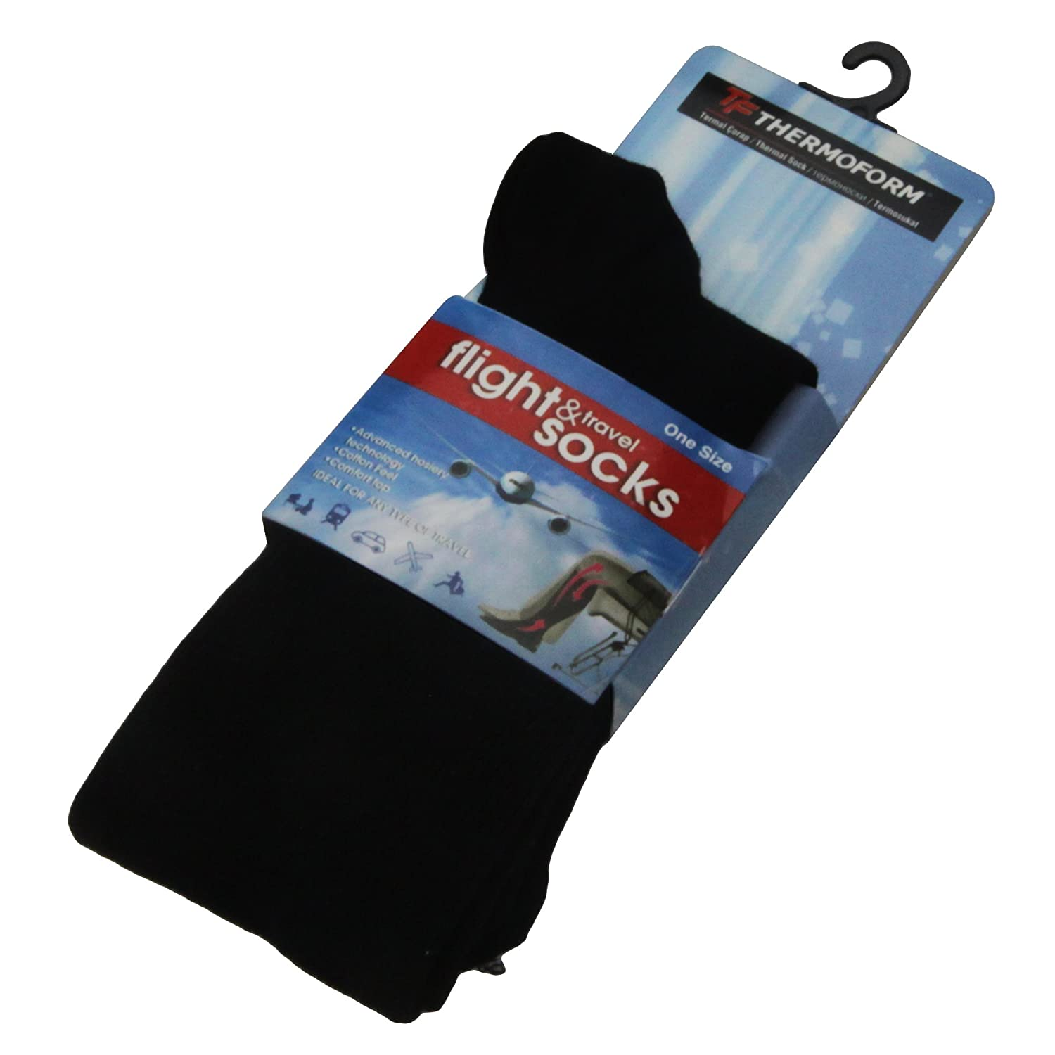 Thermoform HZTS-34 - Thermosocken mit sanfter Kompression - Ideale TRAVEL & FLIGHT SOCKS - One Size