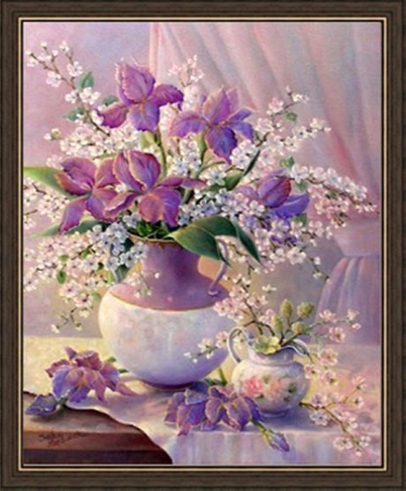 Paint By Number 16 X 20 Kit (Unframed-Unbox) Beauty Flowers 2