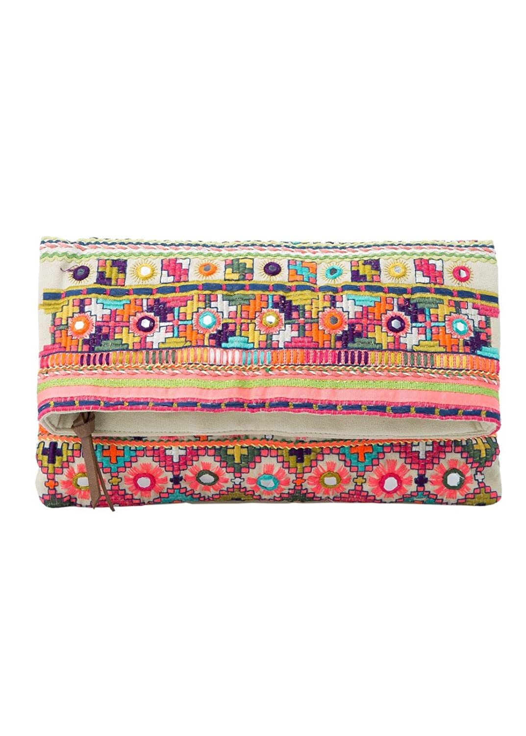 Mango Women's Ethnic Embroidery Clutch