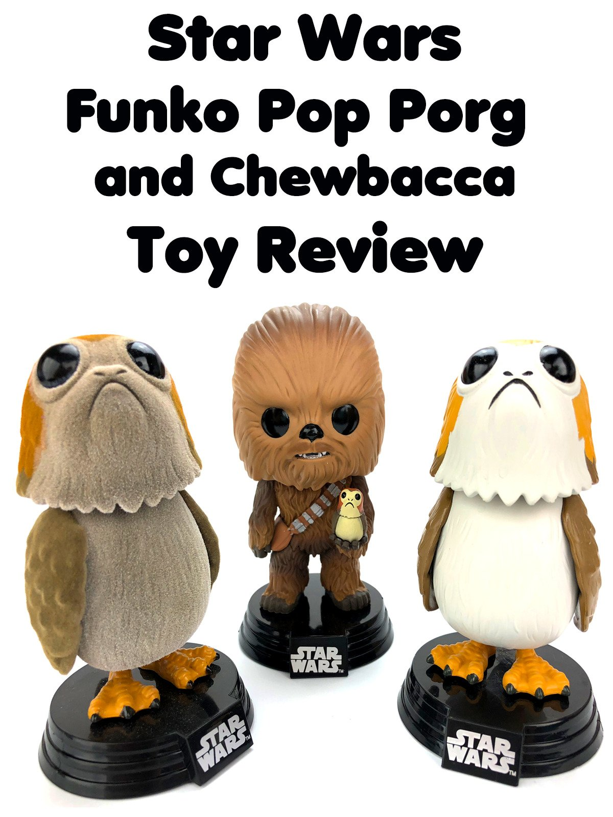 Review: Star Wars Funko Pop Porg and Chewbacca Toy Review on Amazon Prime Video UK