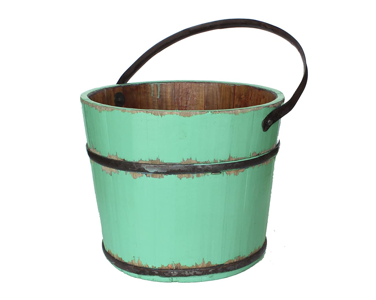 Antique Revival Vintage Anqing House Bucket, Turquoise 0