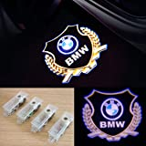 CNAutoLicht 4X Laser Shadow Logo Projector Lamp Welcome Light LED Door Step Courtesy Light For BMW 1-Series E82 E87 F20 3-Series E90 E91 F30 5-Series E60 E61 F10 Easy Installation #31