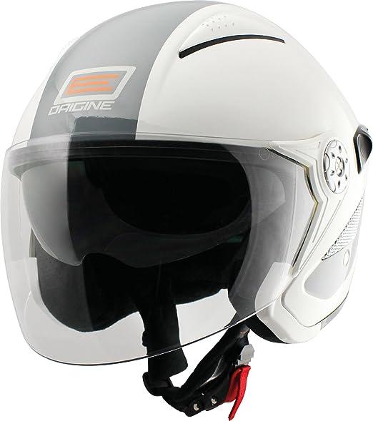 Origine helmets 202529018100202 Casque Falco Retrò, Taille : XS, Brillant Blanc/Gris