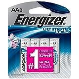 Energizer Ultimate Lithium AA Batteries, 8 Count (L91SBP-8) (Tamaño: 8 Count)